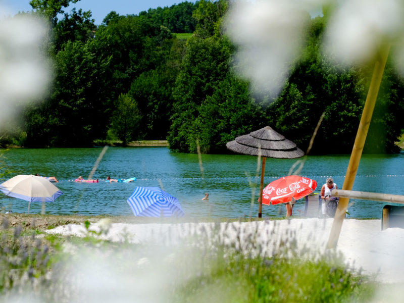 Camping Pomport Beach meer