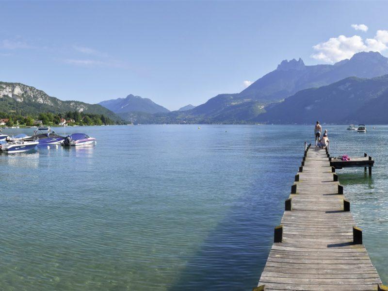 kindvriendelijk kamperen - Lac Bleu - meer met stijger