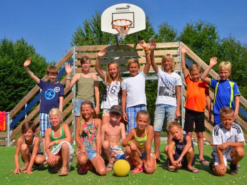 Basketbal op Coin Tranquille - Kindvriendelijk kamperen