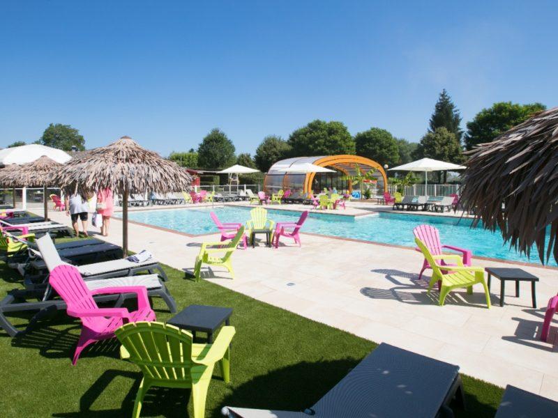 zwembad met ligweide - Coin Tranquille - Kids-Campings
