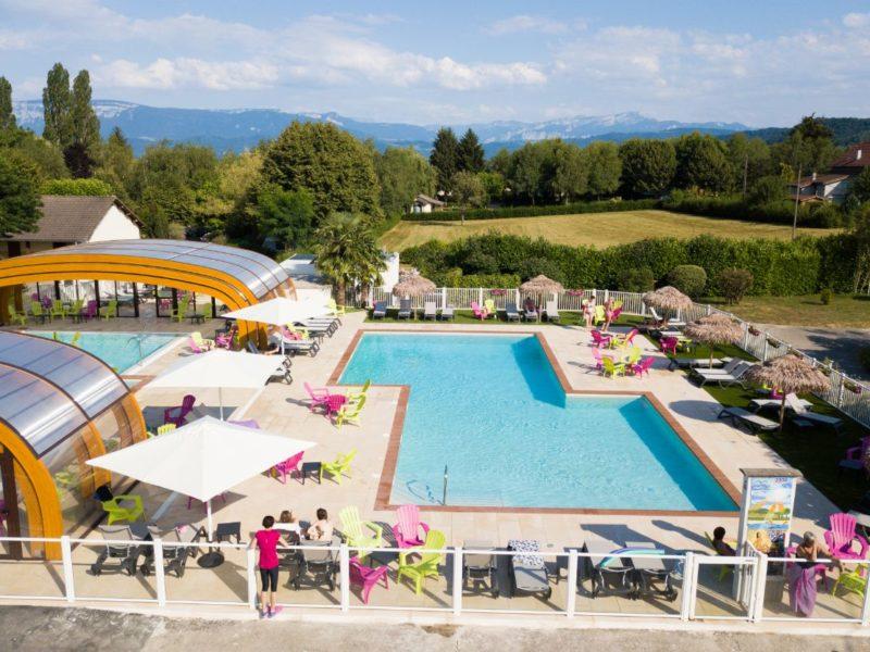 Zwembad overzicht Coin Tranquile - kindvriendelijk kamperen