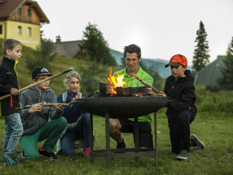 Katschberg - kids-campings - gezellig rond het kampvuur