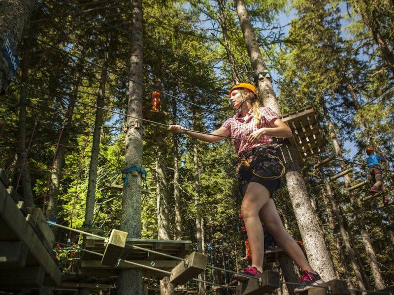 Katschberg - kids-campings - klimmen in het bos