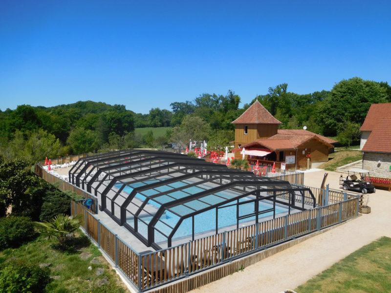 Padimadour, camping in de Lot Frankrijk met overdekt zwembad