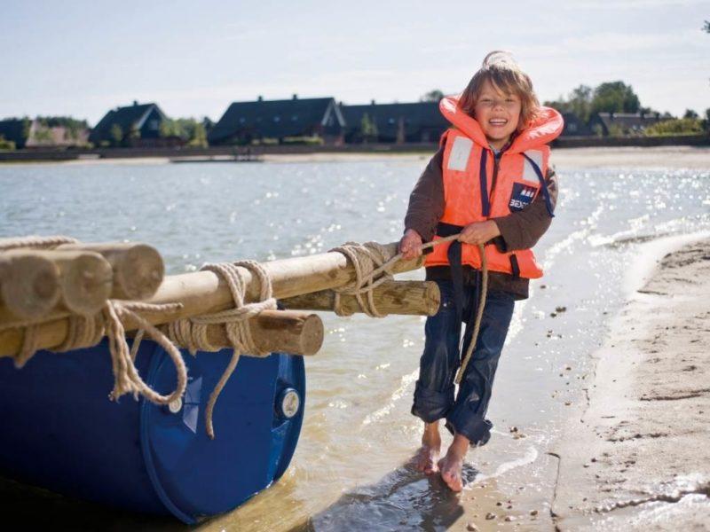 Hof van Saksen - Kids-campings - spelen bij het water