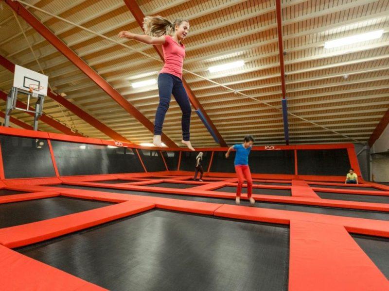 Hof van Saksen - Kids-campings - op de trampolines