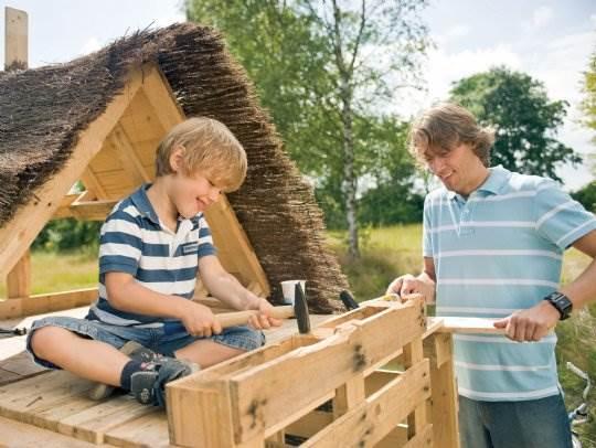 Hof van Saksen - Kids-campings - timmeren