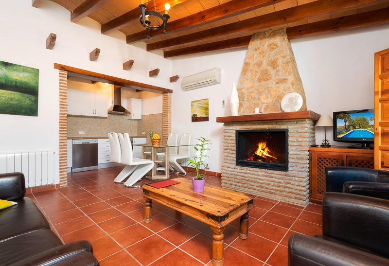 La Granja de Antonio - kids-campings - woonkamer van het vakantiehuis