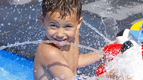 Waterbos - kids-campings - spelen in het water