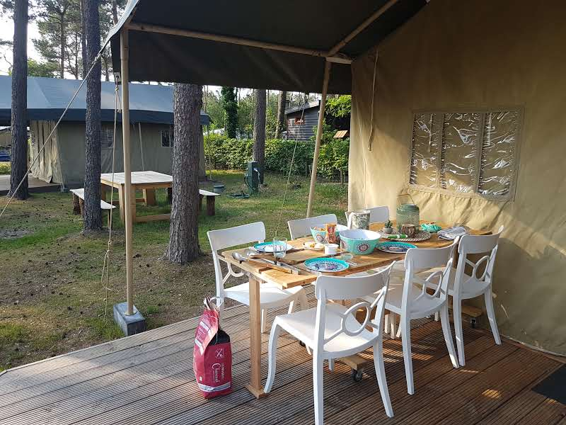 Glamping Nunspeet barbecue