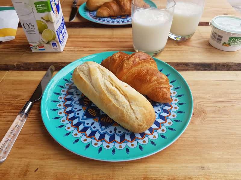 Glamping Nunspeet ontbijt