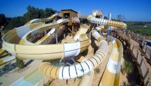 Glijbanen zwembad camping - Camping Le Serignan Plage, Kids-Campings