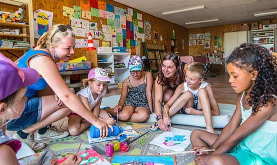Animatie, kidsclub - Grange de Monteillac, kids-camping
