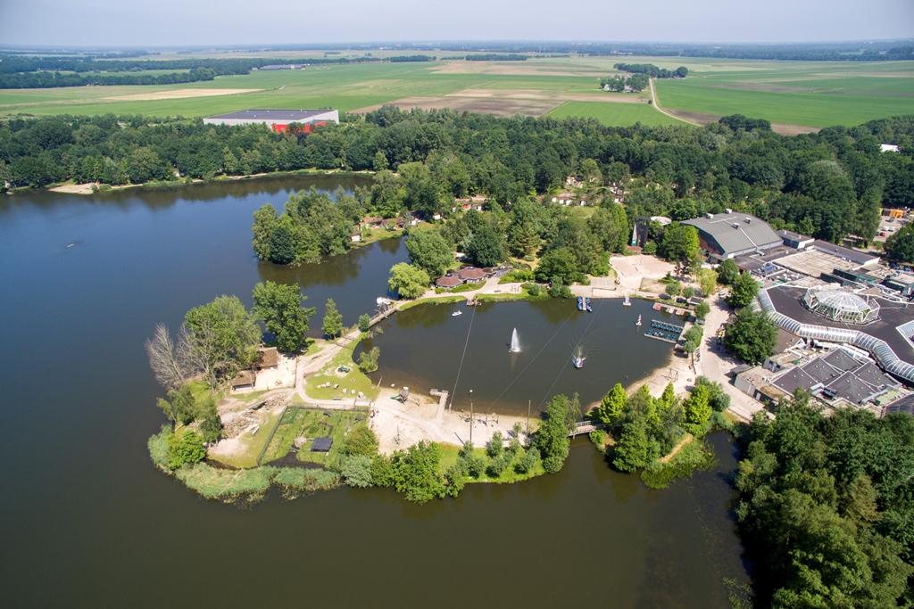 Uitzicht van Huttenheugte via Centerparcs