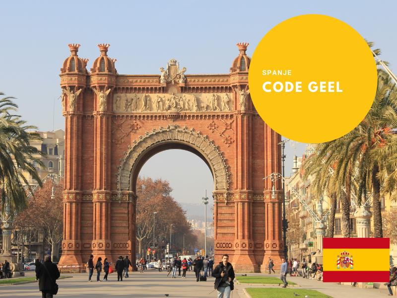 Code geel Spanje